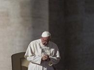 Папа Франциск во время аудиенции на площади Святого Петра