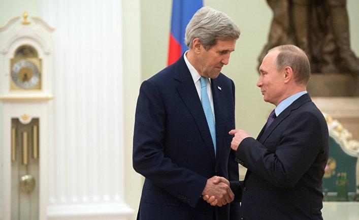 Встреча президента РФ Владимира Путина с госсекретарем США Джоном Керри