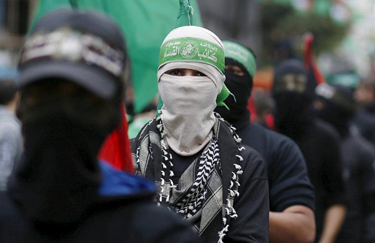 Парад в Газе в честь 28-летия основания движение ХАМАС