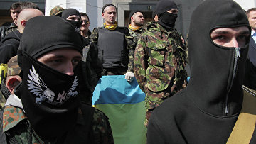 """Сторонники радикального движения """"Правый сектор"""""""