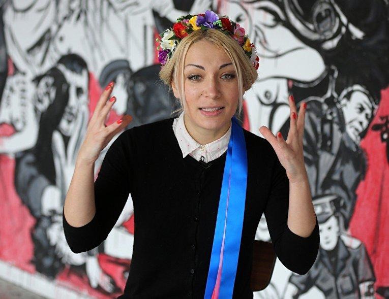 Лидер группы FEMEN Инна Шевченко