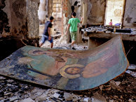 Сожженные коптские храмы в провинции Минья в Египте
