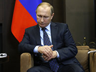 Владимир Путин во время встречи с королем Иордании Абдаллой II в резиденции «Бочаров Ручей»