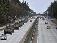 Конвой американских военных в Риге, учения Dragoon Ride