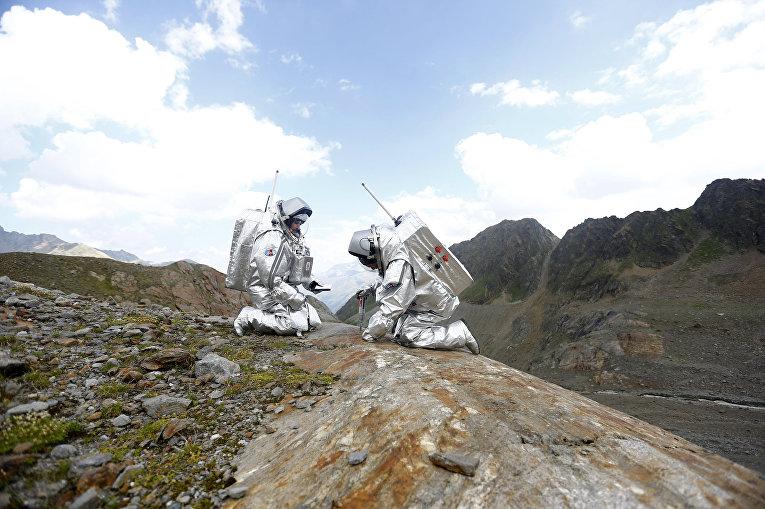 «Экспедиция на Марс» на леднике Каунерталь в Австрийских Альпах