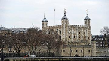 Тауэр на берегу реки Темзы в Лондоне