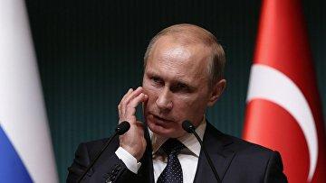 Владимир Путин во время визита в Турцию