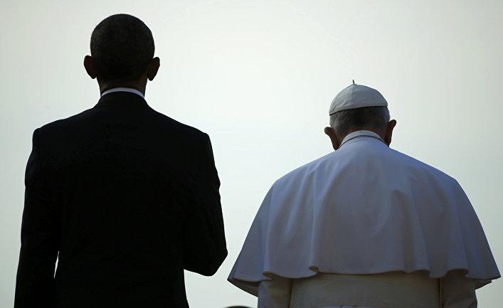 Папа Франциск и Барак Обама во время встречи в Белом доме