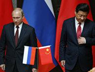 Президент России Владимир Путин и председатель КНР Си Цзиньпин