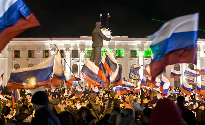 Празднование годовщины присоединения Крыма к России в Симферополе