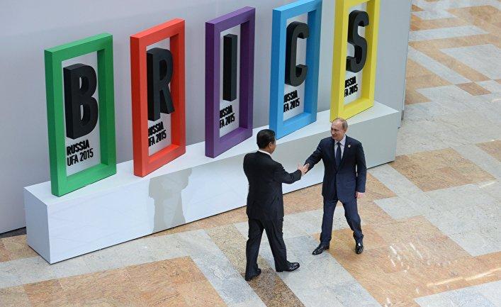 Церемония приветствия Президентом Российской Федерации Владимиром Путиным лидеров БРИКС