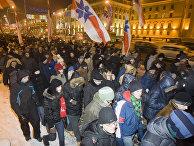 Акция протеста белорусской оппозиции Толочко