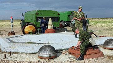 """Подготовка к запуску ракеты РС-20 (""""Воевода"""")"""