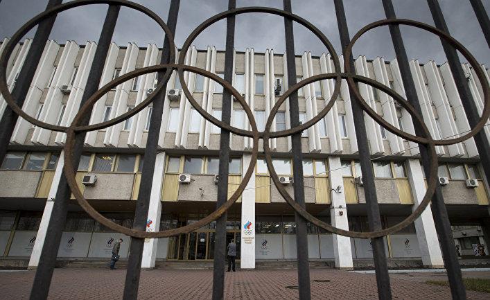 Здание Олимпийского комитета России (ОКР) в Москве