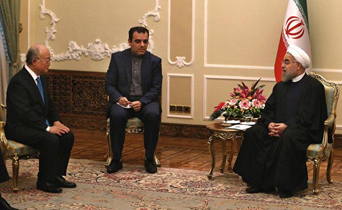 Встреча президента Ирана Хасана Рухани с генеральным директором МАГАТЭ Юкия Амано