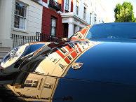 Porsche в лондонском районе Ноттинг-Хилл