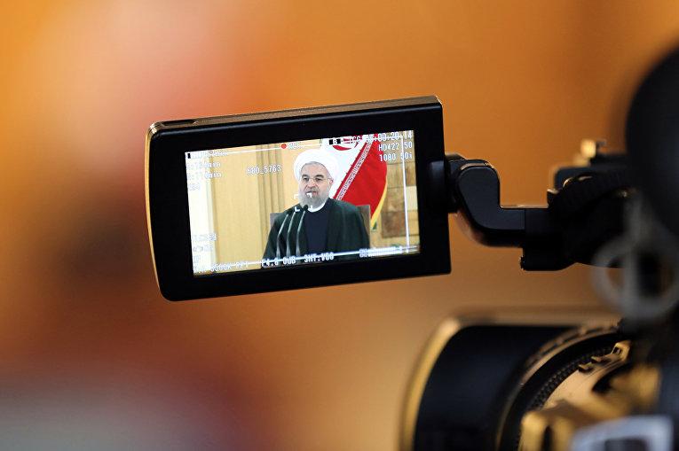 Пресс-конференция президента Хасана Рухани после снятия международных санкций с Ирана
