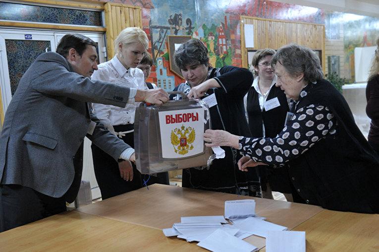 Подсчет голосов по выборам президента РФ