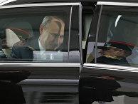 Президент России Владимир Путин прибывает на климатический саммит в Ле-Бурже