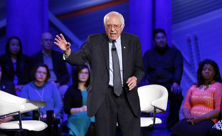Кандидат в президенты США от Демократической партии Берни Сандерс