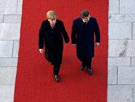 Встреча канцлера ФРГ Ангелы Меркель с премьер-министром Турции Ахметом Давутоглу в Берлине