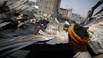 Шоколадная фабрика в Сане, разрушенная во время авиаудара коалиции во главе с Саудовской Аравией