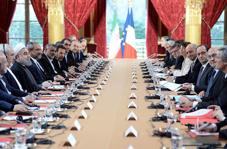 Двусторонняя встреча делегаций Франции и Ирана в Париже