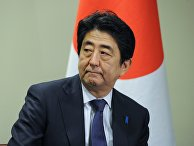 Премьер-министр Японии Синдзо Абэ во время встречи с президентом России Владимиром Путиным