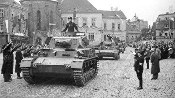 Танк Panzer IV на параде, 1938 г.