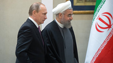 Президент России Владимир Путин и президент Исламской Республики Иран Хасан Роухани