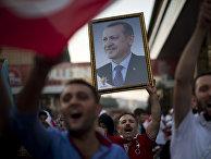 Сторонники Реджепа Эрдогана на президентской предвыборной компании в 2014 году
