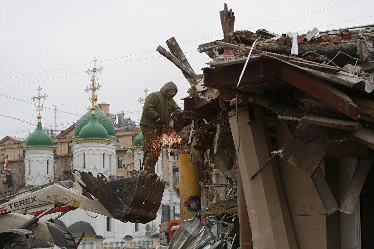 Снос временных павильонов в Москве