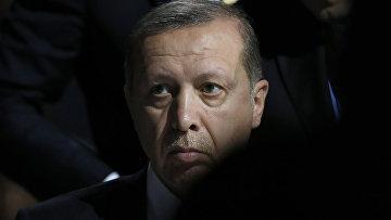 Президент Турции Тайип Эрдоган на климатической конференции ООН в Париже