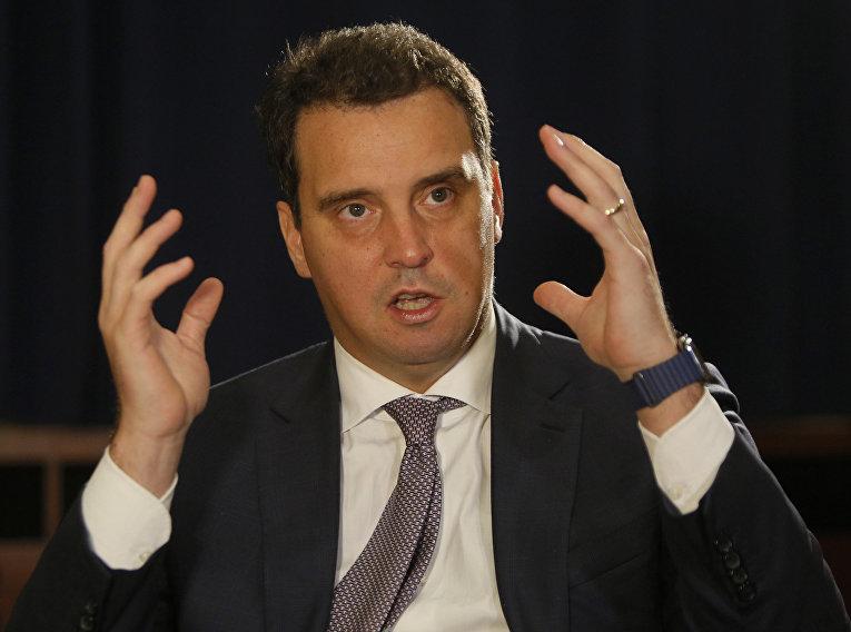 Министр экономики Украины Айварас Абромавичус дает интервью агентству Ассошиэйтед Пресс