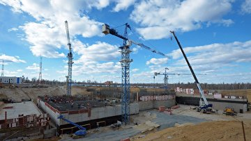 Космодром «Восточный», строящийся вблизи поселка Углегорск в Амурской области