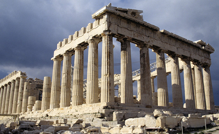 Руины Парфенона на Акрополисе