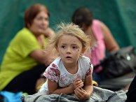 Лагерь украинских беженцев в Ростовской области