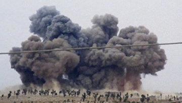 Авиаудар российской авиации по целям в Сирии