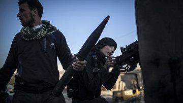 Боевики в городе Алеппо