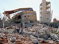 Руины госпиталя в Сирии