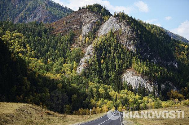 Автомобильная дорога М-52 в Улаганском районе Республики Алтай