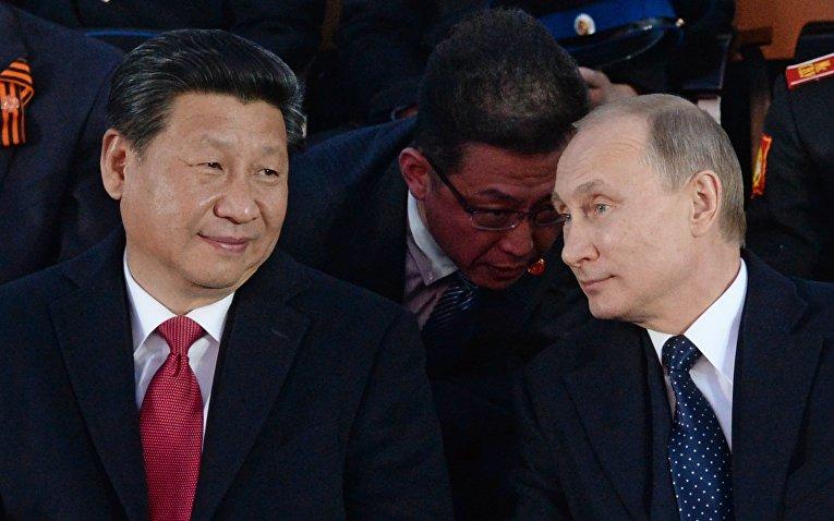 Президент Российской Федерации Владимир Путин и председатель Китайской Народной Республики Си Цзиньпин