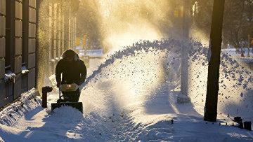Последствия снегопада в Нью-Йорке. Январь 2016