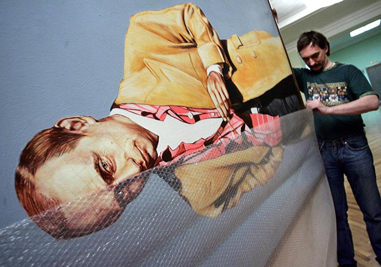 Картина с изображением Владимира Путина для выставки «Портрет эпохи»