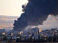 Дым над Кобани после авиаудара сил коалиции во главе с США