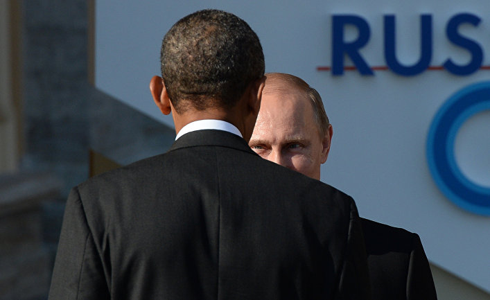 Президент России Владимир Путин и президент Соединенных Штатов Америки Барак Обама
