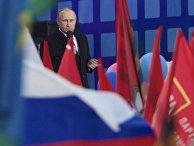 Владимир Путин на концерте, посвященном годовщине присоединения Крыма к России