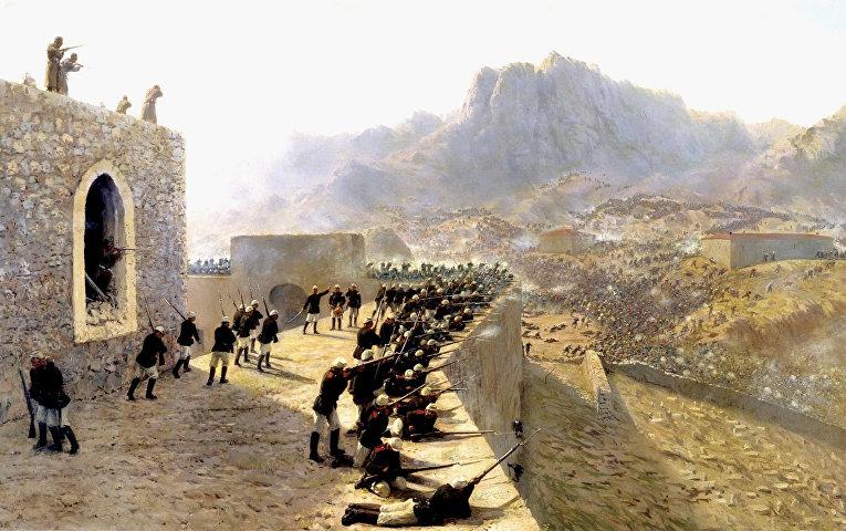 Русско-турецкая война. Отбитие штурма крепости Баязет 8 июня 1877 года