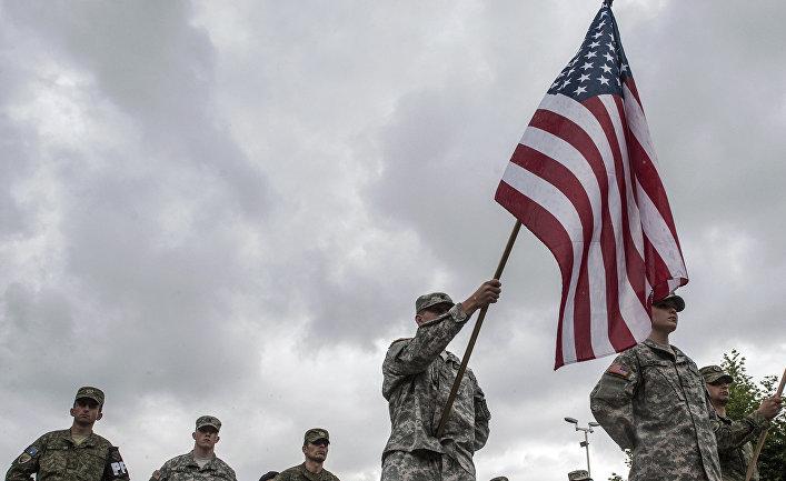 Американские солдаты в Сербском городе Феризай