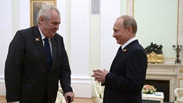 Президент России В.Путин встретился с президентом Чешской Республики М.Земаном